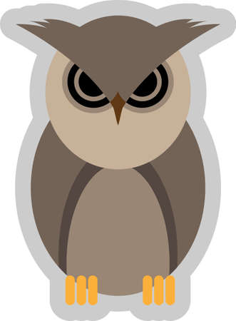 Abstract vector illustration of a mad owl Vector