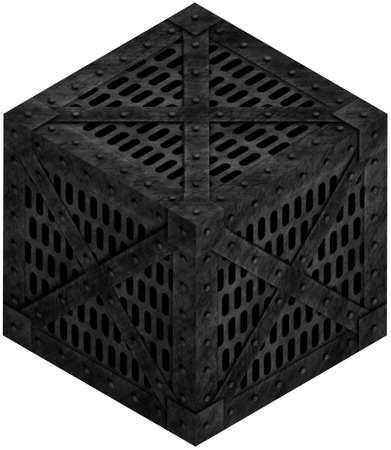 Isometric illustration of metallic cage isolated on white Stock Illustration - 16589763