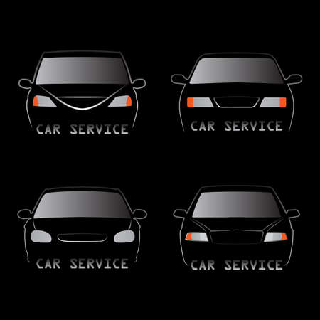 Abstract vector illustration of various car silhouettes - front view Stock Vector - 17296065