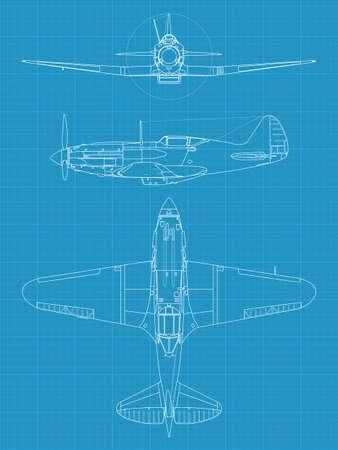 Mig 3 airplane Stock Vector - 17296076