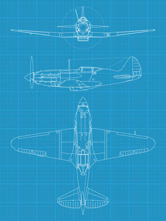 interceptor: Mig 3 airplane Illustration
