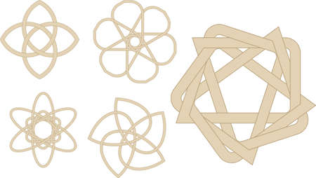 Abstract vector illustration of strange knots Vector