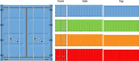 warehouse equipment: cargo container vector illustration isolated on white background