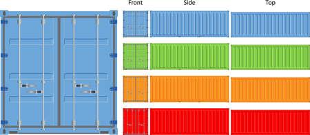 Frachtcontainer Vektor-Illustration isoliert auf weißem Hintergrund Standard-Bild - 17296080