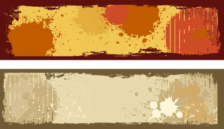 grungy header: Vector illustration of abstract grunge horizontal banners