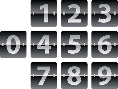 mechanical panel: mechanical scoreboard numbers