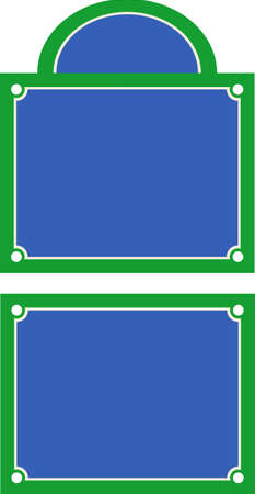 street name sign: Parisian style street sign illustration with room for text Illustration