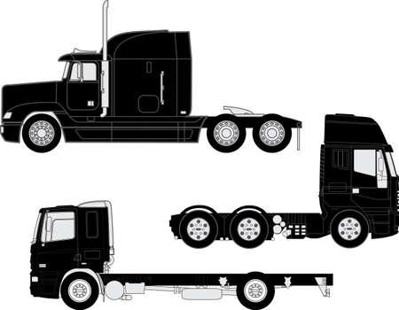 remolques: siluetas de camiones se detallan en el