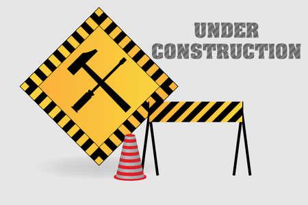 Under construction illustration background Stock Vector - 18483200