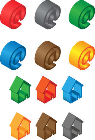 pack of colorful 3d web icons Stock Photo - 18576684