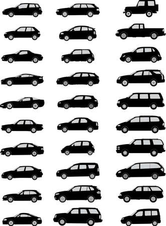 pack with various car silhouettes photo