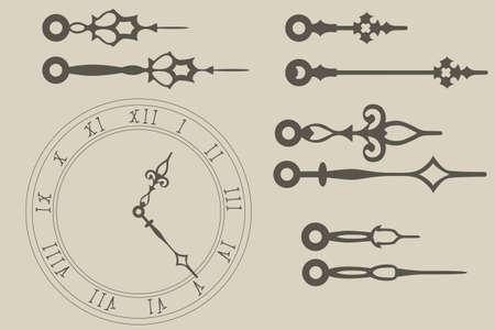 Vector clock hands pack Stock Vector - 19119633