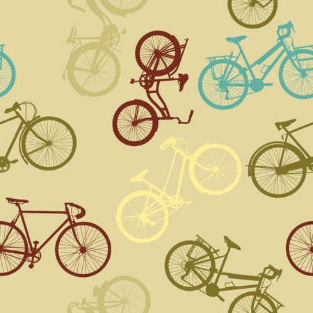 Vintage style bike nahtlose Muster Standard-Bild - 22787849