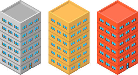 high detailed: High detailed vector isometric building