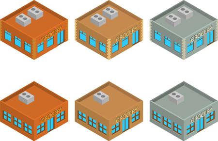 building structure: High detailed vector isometric building
