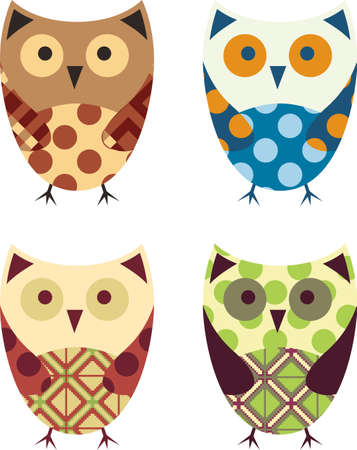 Cute Vector Collection of Owls  Vector