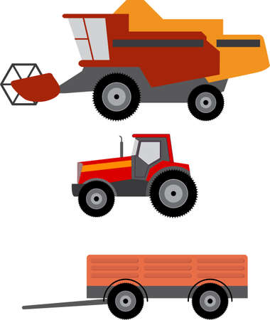 Vector illustration of agriculture vehicles
