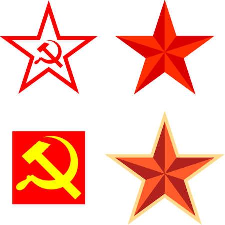 estrellas  de militares: Paquete de vectores con símbolos del comunismo
