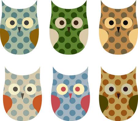 Cute Vector Collection of Owls  Vector
