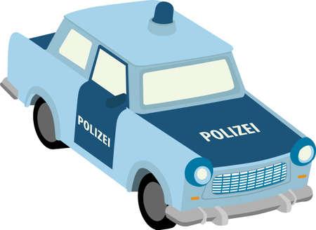 bakelite: Vector illustration of east german police car