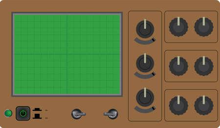 Vector illustration of one oscilloscope Stock Vector - 29478214