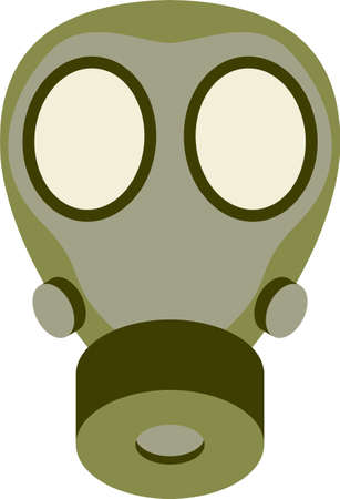 gas mask warning sign: Abstract gas mask vector illustration Illustration