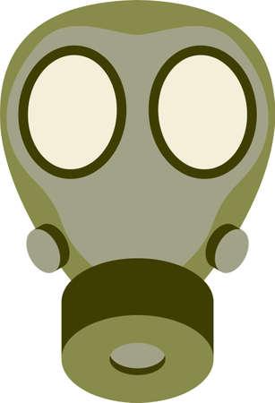 army gas mask: Gas Resumen ilustraci�n m�scara vectorial Vectores