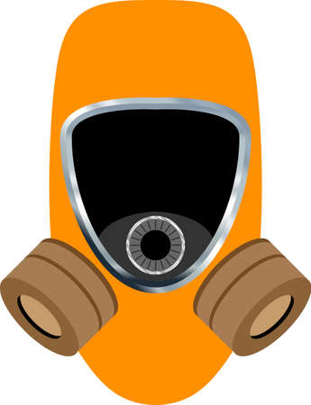 Abstract gas mask vector illustration Illustration