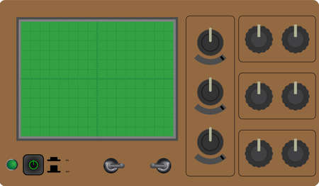 Oscilloscope illustration Vector