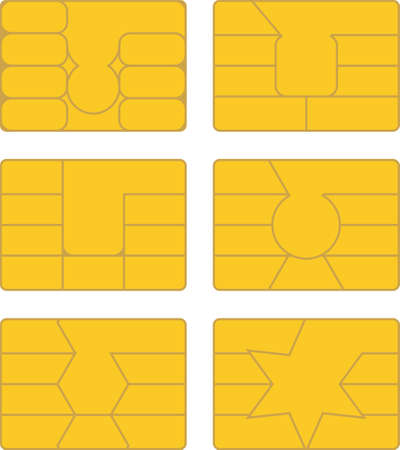 Vector pack of various smart card designs Vector