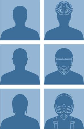 gender identity: Vector illustration of various avatars for user profile