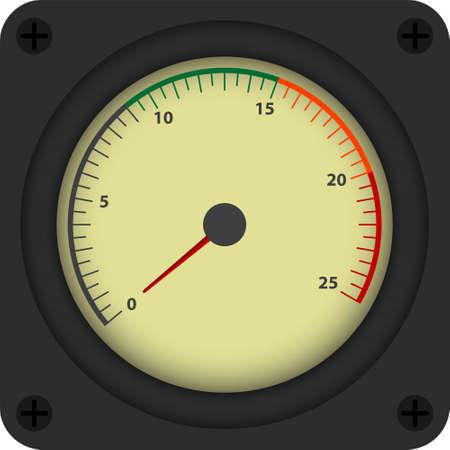 contador electrico: Ilustración vectorial de estilo vintage de dispositivo de medición analógica