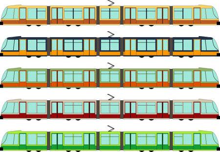 Vector illustration of a modern tram