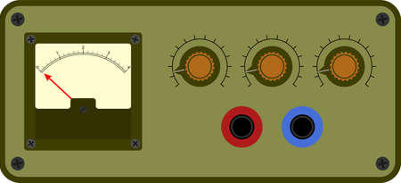 Vector illustration of analogical device control panel Vector