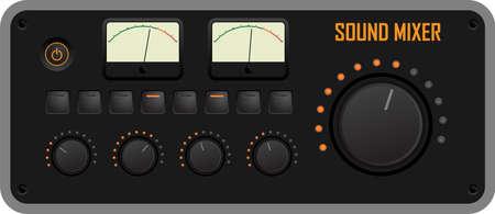 panel control: Vector ilustración de un panel de control de mezclador de sonido Vectores