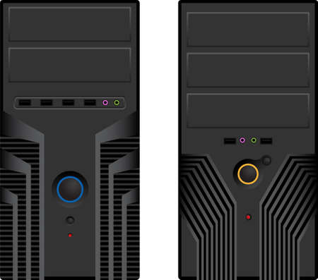 cases: Vector pack of two computer cases