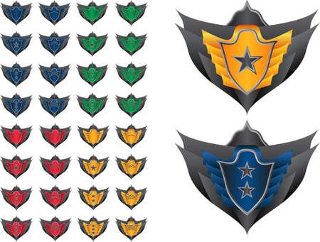 badge vector: Game achievement badge vector pack Illustration
