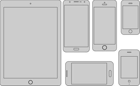 mobile devices: Flat vector design of mobile devices Illustration