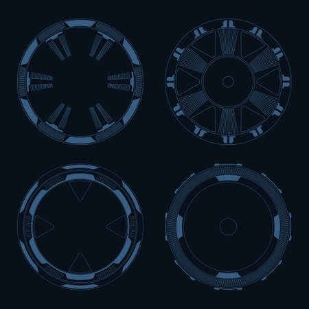 sci: Sci fi target vector pack