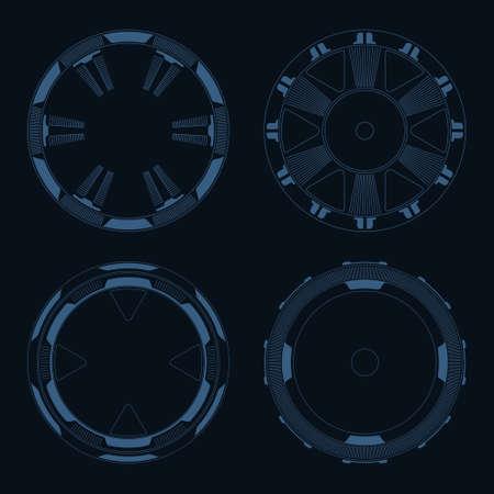 Sci fi target vector pack