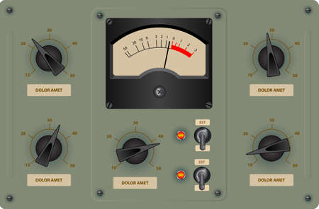 control panel: Editable vector illustration of analog control panel Illustration