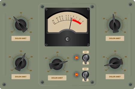 control panel: Illustrazione vettoriale modificabile di pannello di controllo analogico