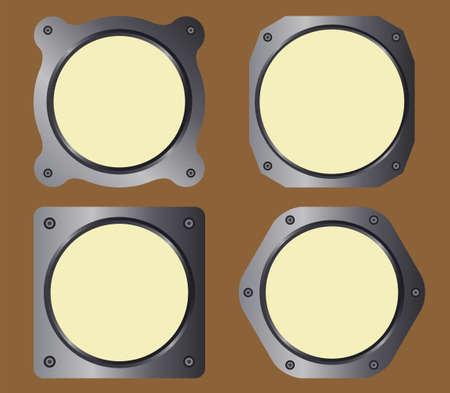 Analogical instruments frame vector pack