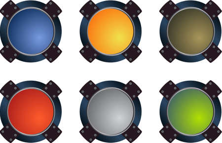 buttons vector: Colorful  glass buttons vector pack