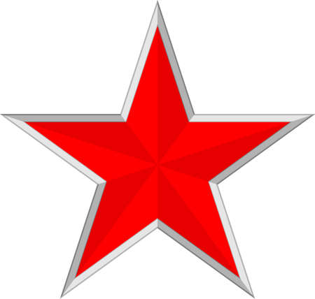 war decoration: Vector illustration of a red star