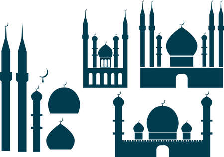 creation kit: Mosque vector elements creation kit