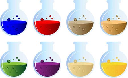 pocion: Poción conjunto botella vectorial