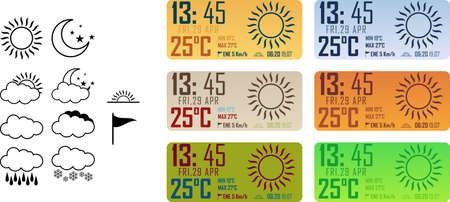 humid: simple weather widget elements Illustration