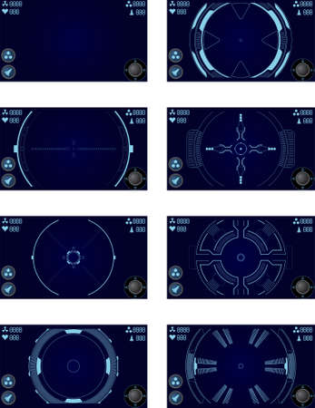 shooter: elements for space shooter game for mobiles