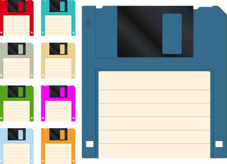floppy: Floppy disk icon set